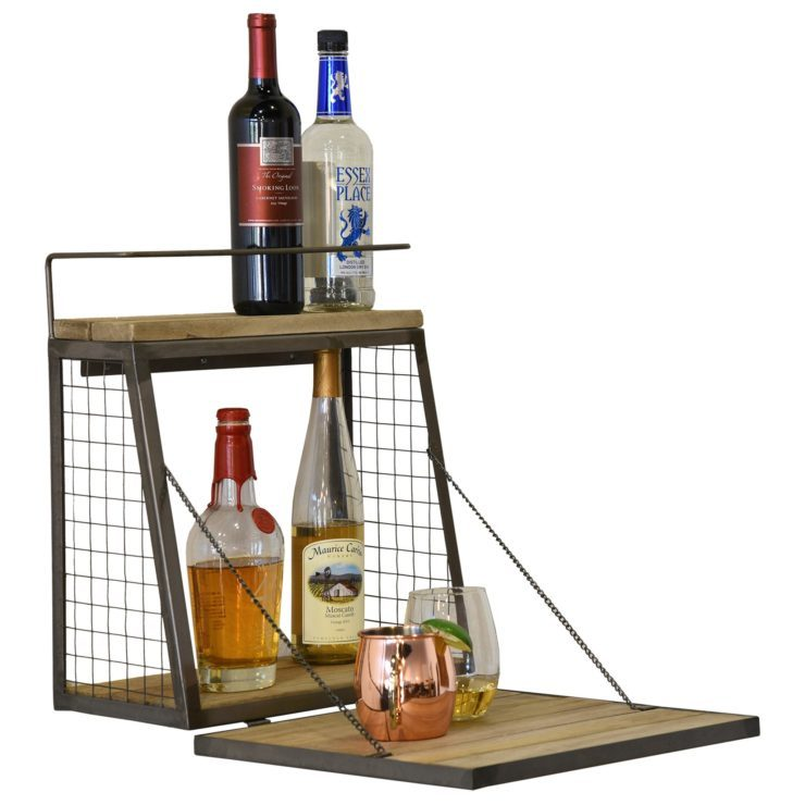 Wall Mounted Liquor Cabinet Apartment Size