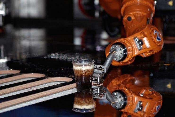 robot bartender arm