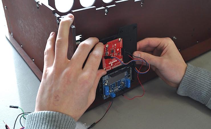 Arduino mounted underneath